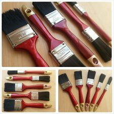 5 Set Paint Brush Set Home Wall Wood Fence Gloss Emulsion Red Handle DIY BIN 3""