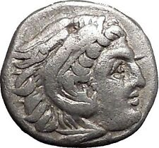 ALEXANDER III the GREAT 310BC Silver Authentic Ancient Greek Coin w Zeus i55432