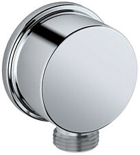 "Bath plumbing wall joint corner fitting CULT in chrome 1/2"" to 1/2"""