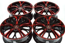 17 red Rims Wheels Civic Integra Fuzion Eclipse Camry ES350 Accord 5x100 5x114.3