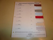 1960 Lincoln DuPont Duco Color Chip Paint Sample - Vintage