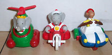 1990 Arbys Babar World Tour Vehicles Complete set of 3 Kids Happy Meal Toy