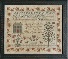 """Bless Our Home Sampler"" Cross Stitch Pattern by LA~D~DA - Sayings - Alphabet"