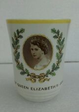 Queen Elizabeth II Coronation Beaker Royal Doulton Bone China 1953