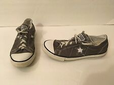 Boys Girls Converse Gray One Star Chuck Taylor Low Top Shoes Size 5