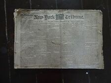 HISTORIC February 14, 1865 New York Tribune Civil War Newspaper