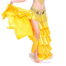New Professional Belly Dance Costume Waves Skirt Dress with slit Skirt 9 colors