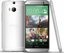 "5"" HD HTC One M8 32GB White Factory GSM Unlocked Android WIFI Handy Smartphone"