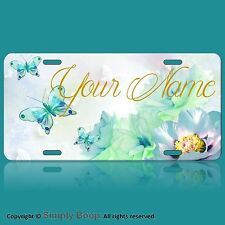 Personalized Custom License Plate Auto Car Tag Butterflies  Butterfly Your Name