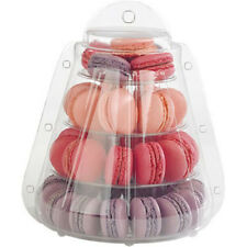 4 Tier Macaron Tower Stand with carrying Case for French Macarons by Cheerico.