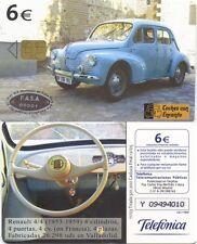 6 Euros. Telefónica. Coches con encanto. Renault 4/4 (1953-1959).