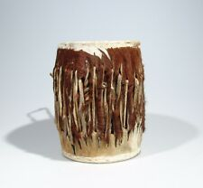 """Awesome """"Shona Leather Drum"""" v2 Hand made in Zimbabwe! 9.5 x 7 inches"""