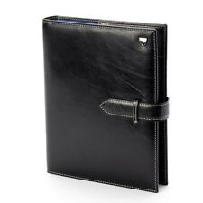 Aspinal of London Executive Personal Organiser Smooth Black Initials JAT