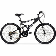 "26""Mountain Bike Men's Hyper Havoc Full Suspension Aluminum Frame Shimano Black"