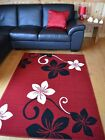 New Red And Black Cream Small Extra Large Medium Size Floor Carpet Rugs Rug Mat