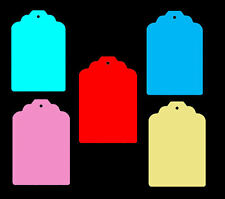 Large Classic Shape Price Tag Labels Display Swing Tickets. Favours.All Colours