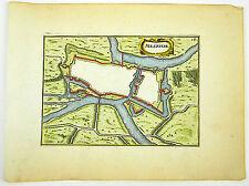 Charleville-Mézières France vue gravure sur cuivre tassin 1636 d745ws