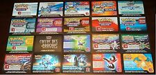 Lot de 20 CARTES CODES POKEMON Pr JOUER EN LIGNE (CODES NON UTILISES) LPCNU20 01