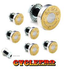 7 Pcs Billet Fairing Windshield Bolt Kit For Harley - BRASS 44 MAG - 056