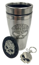 GENUINE HARLEY DAVIDSON Willie G Skull KEY CHAIN RING H-D Car cup holder coaster
