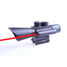 Original 4X30 Red Green Dual Optical Sight with Red Laser Rifle Scope Lights