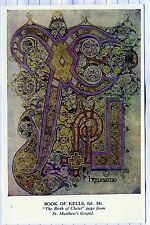 The Book of Kells : St. Matthew's Gospel: Trinity College, Dublin.