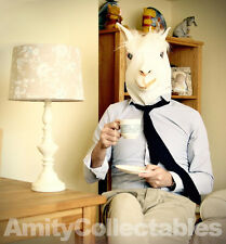 LATEX LLAMA (Alpaca) MASK Full Head Animal Fancy Dress Halloween Party