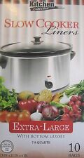 "Kitchen Collection Clear Crock Pot Liners 13""x21""x4"" Extra-Large 7-8 Quarts 2278"
