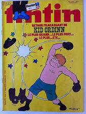 b)TINTIN du 13/10/1981 ; Poster n° 3 des 35 ans/ L'hovercraft/ Foreigner