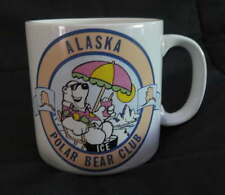 ALASKA Polar Bear Club Ceramic MUG Coffee Cocoa Drink Travel Vintage Ice Winter