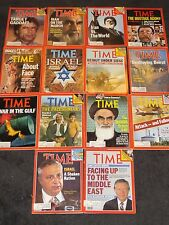 Lot of 14 Time Magazines 1980s all about Israel Beirut Arafat Middle East WAR