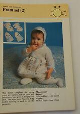 Knitting Pattern DK Baby Toddler Flower Design Bonnet, Mitts, Bootees & Leggings