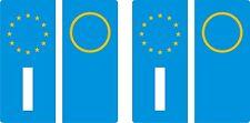 4 ADESIVI RIFRANGENTI STICKERS TARGA EUROPA EURO + 8 BOTTONI MOTO AUTO ETICHETTE