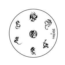 Moyou Uñas Imagen Placa 64 Para Uñas Stamping plantilla de diseño de la plantilla de manicura