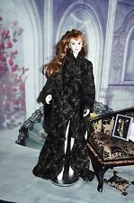 GOTHIC COAT DRESS. DESIGNED JOE TAI. MINT  FOR 16/17 INCH FASHION DOLLS.