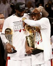 Lebron James & Dwyane Wade Miami Heat 2013 NBA Champions MVP 8x10 Glossy Photo