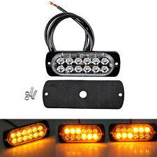 36W Amber Truck 12-LED Flash Emergency Hazard Warning Strobe Light Bar 12/24v