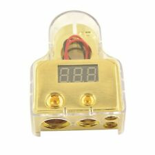 D015 Car Auto Digital Positive Battery Terminal clamp 8/1/0/4 Gauge & Volt Meter