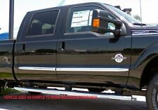 FORD SUPER DUTY F-250/350 EXTENDED CAB 1999-2014 TFP CHROME BODYSIDE MOLDING SET