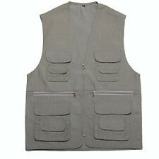 Men's Casual pocket Vest outdoor camping fishing photography Waistcoat Gilet New