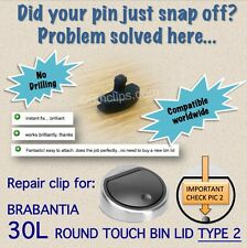 Repair bin lid clip/striker/  30L Brabantia touch bin/trash can no drill -type 2
