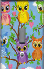 OWLS IN A TREE - OWLS HOME DECOR SINGLE LIGHT SWITCH PLATE
