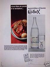 PUBLICITÉ 1969 SUCCOMBEZ ET BUVEZ CONTREX EAU MINERALE NATURELLE - ADVERTISING
