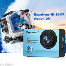 Excelvan Q8 WiFi 4K 16MP 30FPS 30m Waterproof Wide Lens Action DV Sports Camera