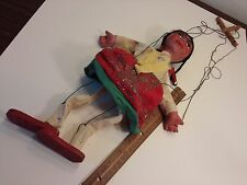 Vintage Marionette String Puppet Mexican Folk Art indian native american antique