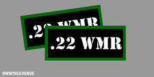 """.22 WMR Ammo Can Labels for Ammunition Case 3.5""""x1.50"""" stickers decals(2PACK)"""