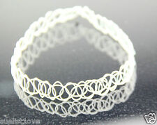 white Vintage Stretch Tattoo Choker Necklace Retro Gothic Punk Elastic 80s 90
