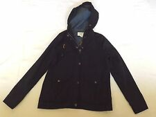 "FOREVER 21 LADIES SMALL NAVY BLUE HOODED JACKET CHEST 36"" 91cm"
