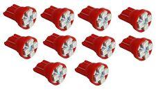 10x ampoule T10 W5W 12V 4LED SMD rouge veilleuses éclairage intérieur plafonnier