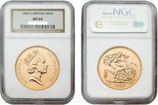 Great Britain 1985 5 Sovereign NGC MS69